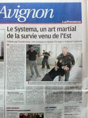 Article sur notre stage à Avignon dans «La Provence»