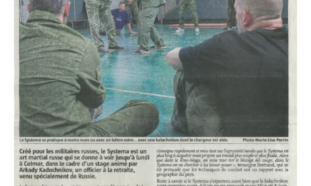 Journal L'Alsace, 26 avril 2014