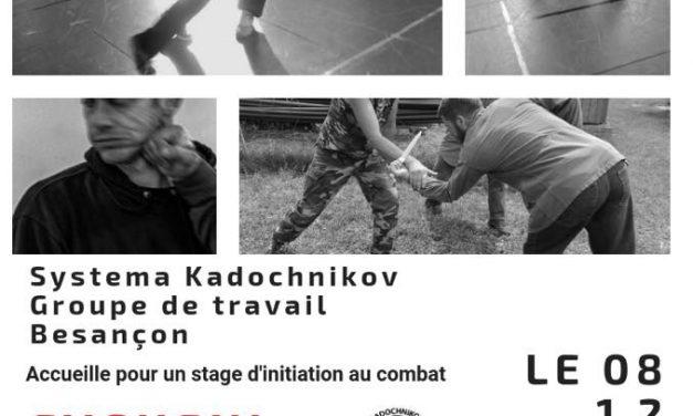 journée d'initiation au Systema Kadochnikov à Besançon le 08/12/18